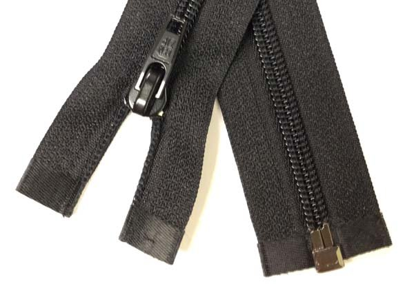 LENZIP #5 Coil 1-Way Separating Zipper - 42 inch - Black