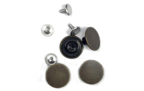YKK Tack Buttons - 5/8 inch - Antique Brass