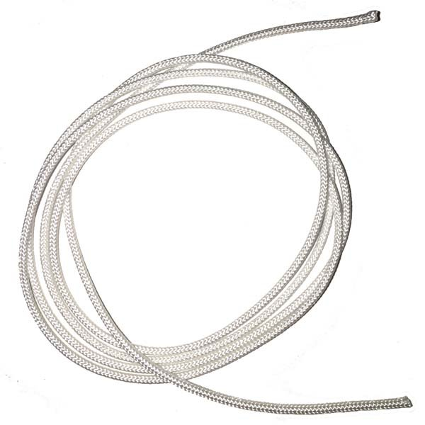 1/16 inch - Round Polyester Cord - White - Full Roll