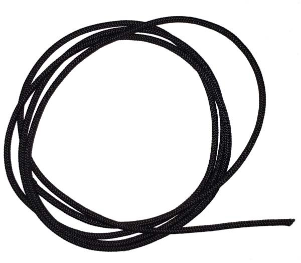1/16 inch - Round Polyester Cord - Black