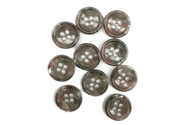 Plastic Button - 5/8 inch - Brown Pearl