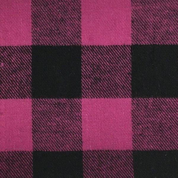 Buffalo Plaid Flannel - Fuschia