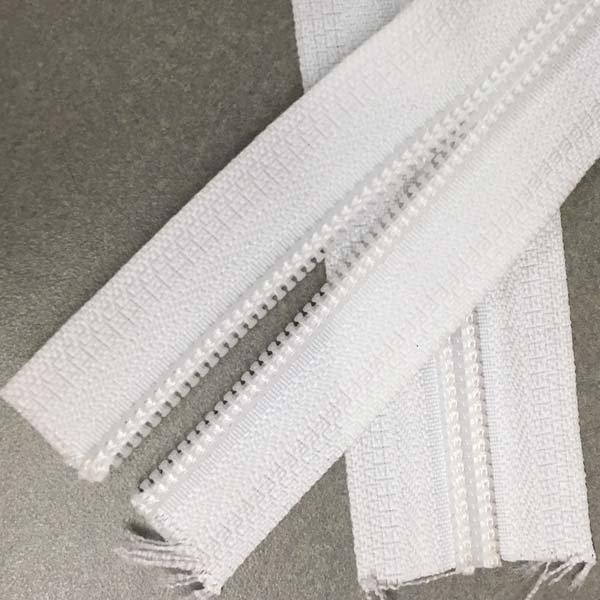 YKK #5 Coil Zipper Tape - White