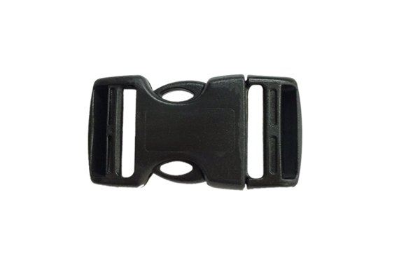 Dual Adjusting Side Release Buckle - 1 inch - Black