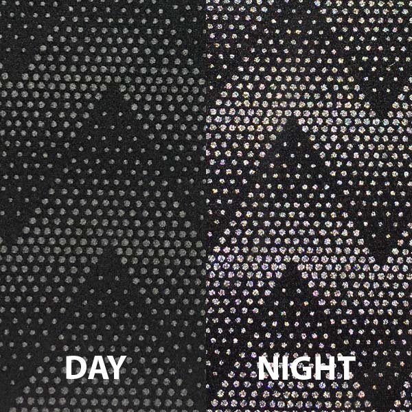 Reflective Night Vision - Black Chevron