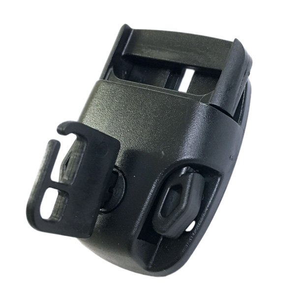 Locking Side Release Buckle with Key - 1 inch - Black