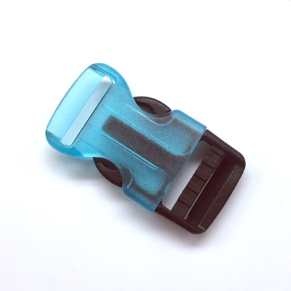 Curved Side Release  Buckle - 1 inch - Blue/Black