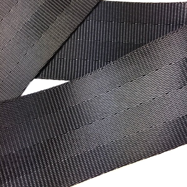 Nylon Seatbelt Web - 2 inch - Black