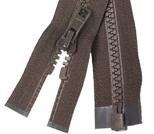 YKK #5 MT 1-Way Separating Zipper New Style - 14 inch -  Brown