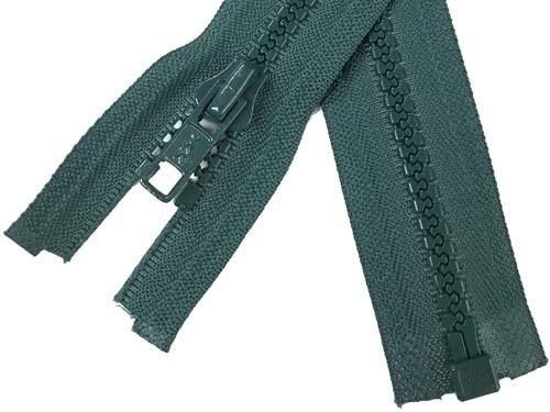 YKK #5 MT 1-Way Separating Zipper Old Style  - 14 inch - Dark Forest Green