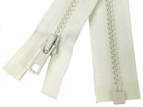 YKK #5 MT 1-Way Separating Zipper Old & New Style - 24 Inch - Ivory