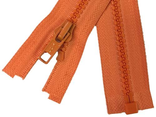 YKK #5 MT 1-Way Separating Zipper New Style - 14 inch - Orange