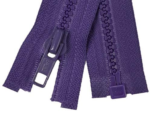 YKK #5 MT 1-Way Separating Zipper Old & New Style - 20 Inch - Purple