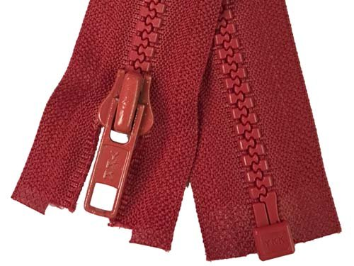 YKK #5 MT 1-Way Separating Zipper Old & New Style - 20 Inch - Red
