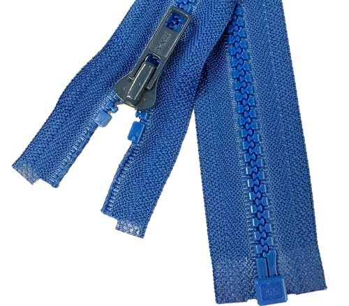 YKK #5 MT 1-Way Separating Zipper Old Style - 20 inch -  Royal