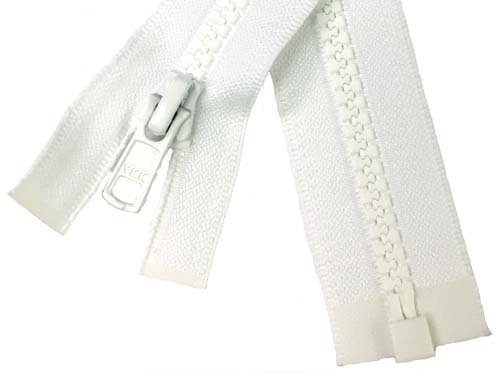 YKK #5 MT 1-Way Separating Zipper Old Style - 14 inch -  White