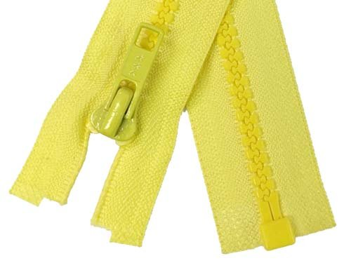 YKK #5 MT 1-Way Separating Zipper Old & New Style - 14 Inch - Yellow