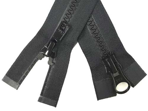 YKK #5 MT 2-Way Separating Zipper New Style - 28 inch - Black