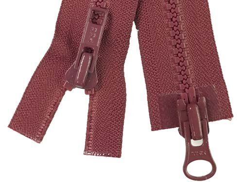YKK #5 MT 2-Way Separating Zipper Old Style - 26 inch - Burgundy