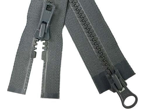 YKK #5 MT 2-Way Separating Zipper Old & New Style - 32 inch - Dark Grey