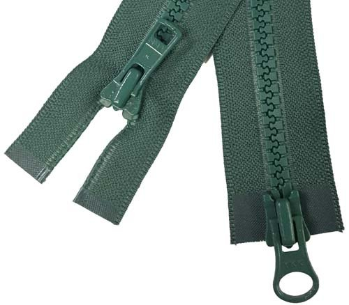 YKK #5 MT 2-Way Separating Zipper Old Style - 40 inch - Dark Forest Green
