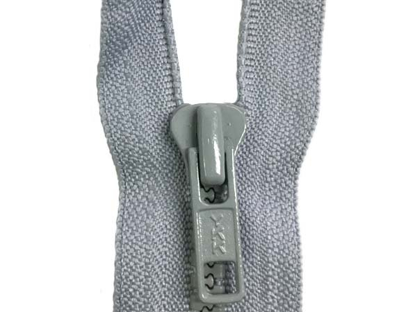 YKK #5 MT 1-Way Separating Zipper Old & New Style - 14 Inch - Light Grey