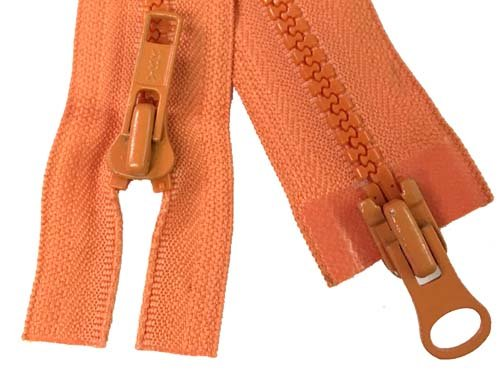YKK #5 MT 2-Way Separating Zipper Old Style - 40 inch - Orange