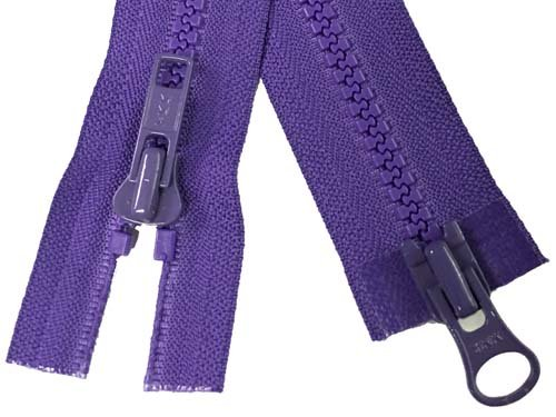 YKK #5 MT 2-Way Separating Zipper Old Style - 32 inch - Purple