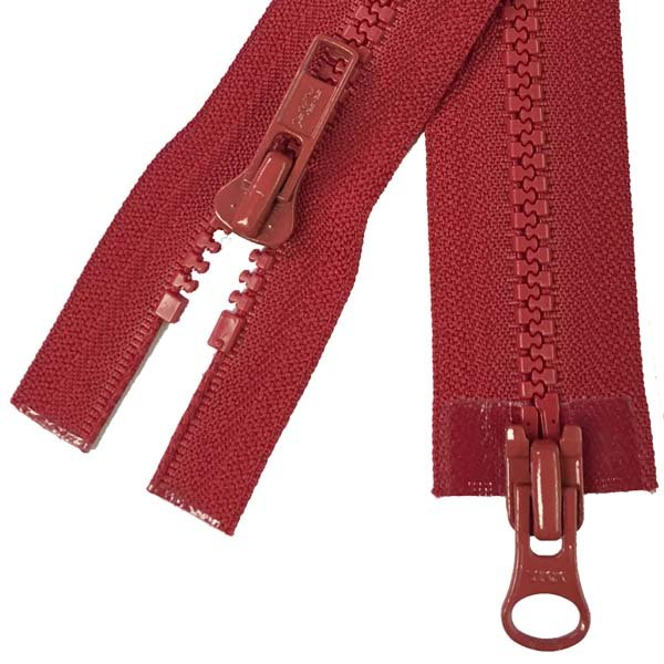 YKK #5 MT 2-Way Separating Zipper New Style - 32 inch - Red