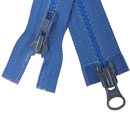 YKK #5 MT 2-Way Separating Zipper Old Style - 28 inch - Royal
