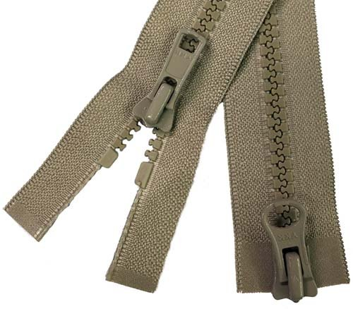 YKK #5 MT 2-Way Separating Zipper Old Style - 40 inch - Tan