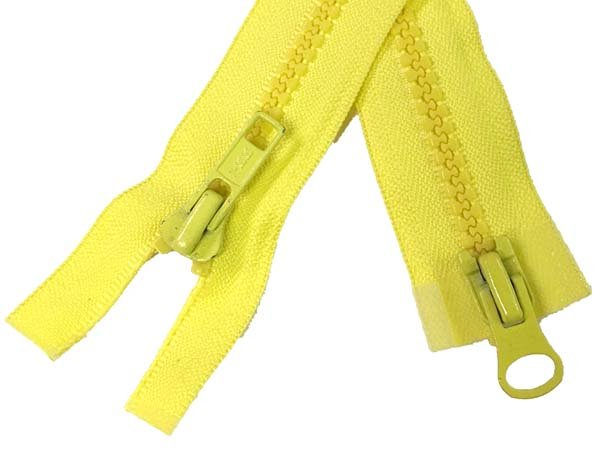 YKK #5 MT 2-Way Separating Zipper Old Style - 28 inch - Yellow