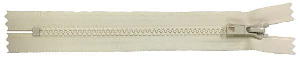 YKK #5 MT Non-Separating Zipper Old Style - 9 inch - Ivory