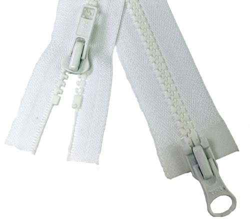 YKK #5 MT 2-Way Separating Zipper Old & New Style - 32 inch - White