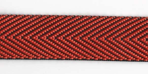 Herringbone Web - 1 inch - Orange