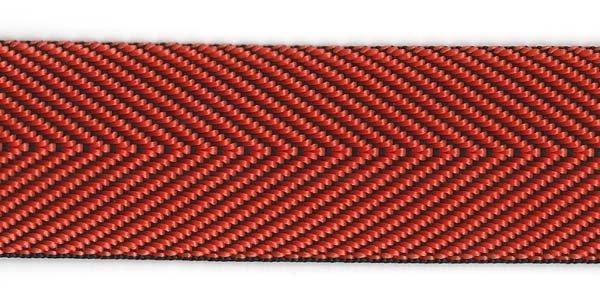 Herringbone Web - 1 1/2 inch - Orange
