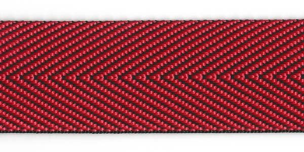 Herringbone Web - 1 1/2 inch - Red