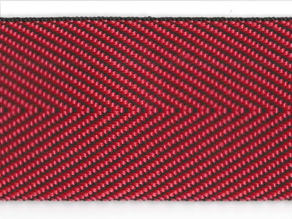 Herringbone Web - 2 inch - Red