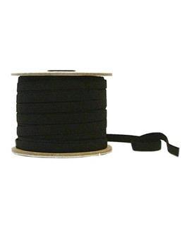 3/8 inch - Polyester/Latex Free Flat Braided Elastic - Black