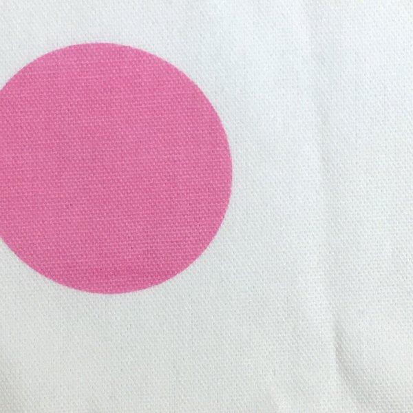 Cotton Canvas - Pink Dots