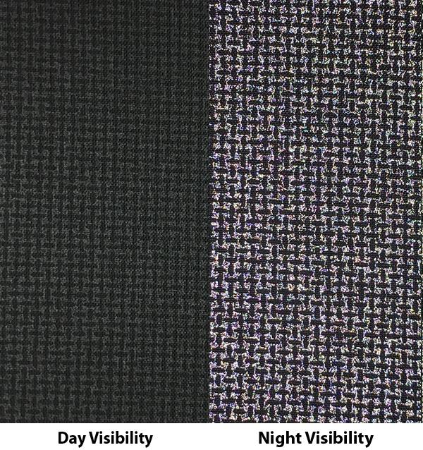 Reflective 200 Denier Coated - Black