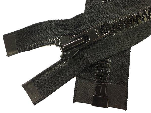 YKK #8 MT 1-Way Separating Zipper - 12 inch - Black