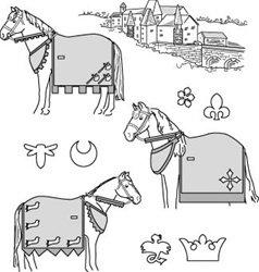 SU9130 - Medieval Horse Costume w/Rump Cover