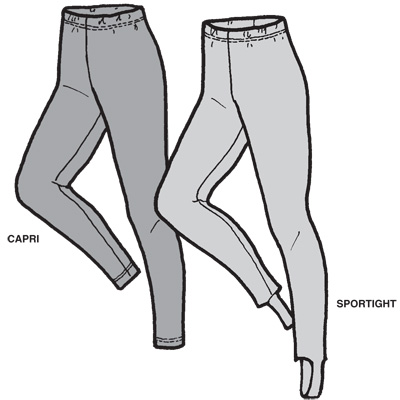 GP406 - Sport Tights or Capris