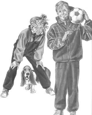 DK93 - Willamette Fleece Warm-Ups - Children