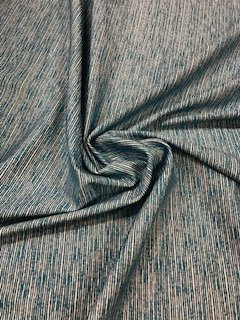 Nylon Spandex Print - Blue & White Stripes