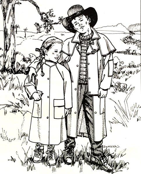 Child's Aussie Drover's Coat