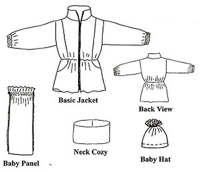 EL206 - Nursing Classics - Jacket w/Zip-In Baby Panel