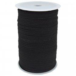 1/4 inch - Polyester Flat Braided Elastic - Black