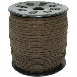 1/6 inch - Nylon Banded Elastic - Brown